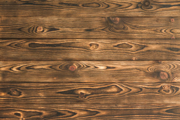 Background texture of rustic brown natural wood stock photo