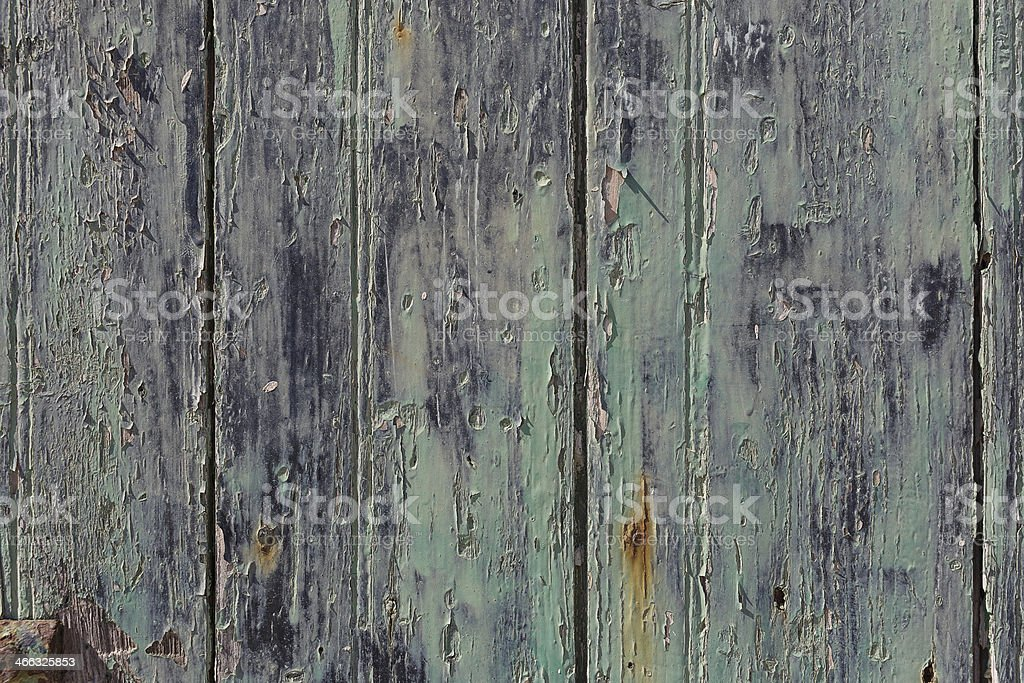 Background texture of weathered green wood royalty-free stock photo