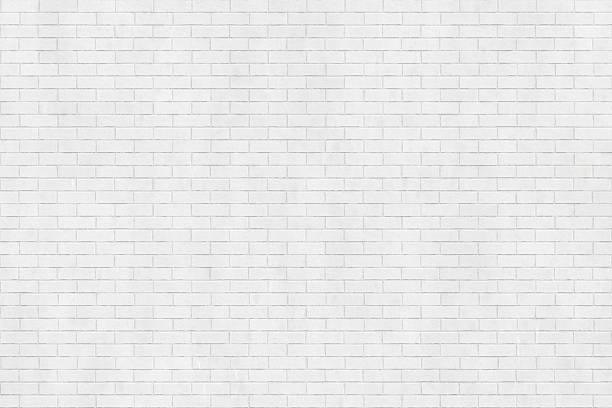 Background texture of white brick wall - Photo