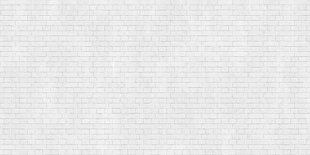 Background texture of white brick wall stock photo