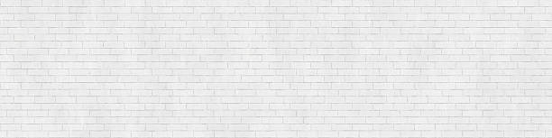 Background texture of white brick wall stock photo