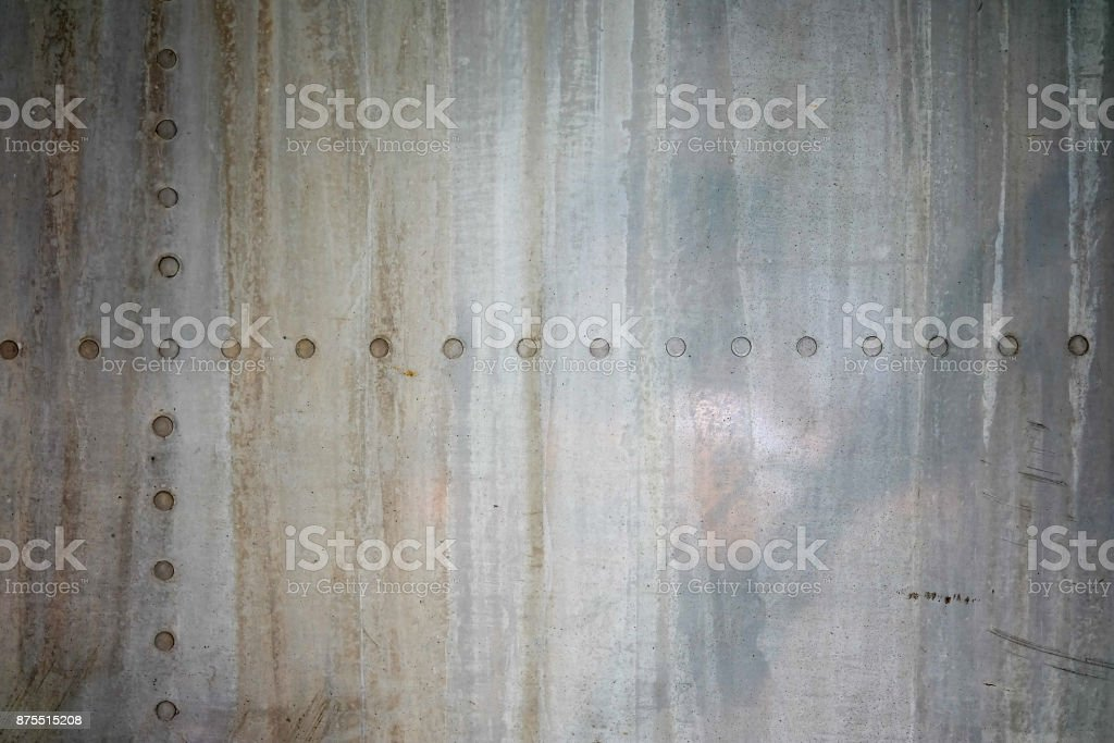 Background texture Old iron wall with a rivet stock photo