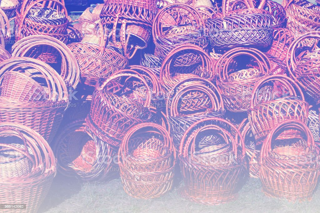 Background texture. Wicker baskets from willow rods - Royalty-free Art And Craft Stock Photo