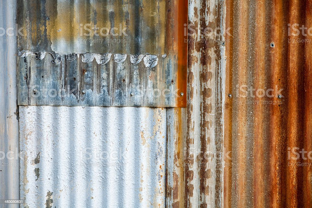 Background texture with corrugated metal royalty-free stock photo