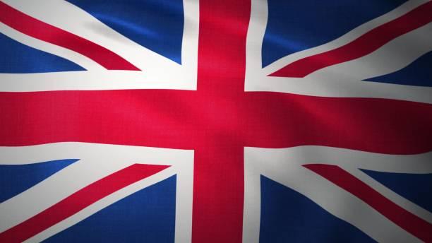 배경 - 영국 국기. 영국 국기입니다. 3d 렌더링 - 영국 국기 뉴스 사진 이미지