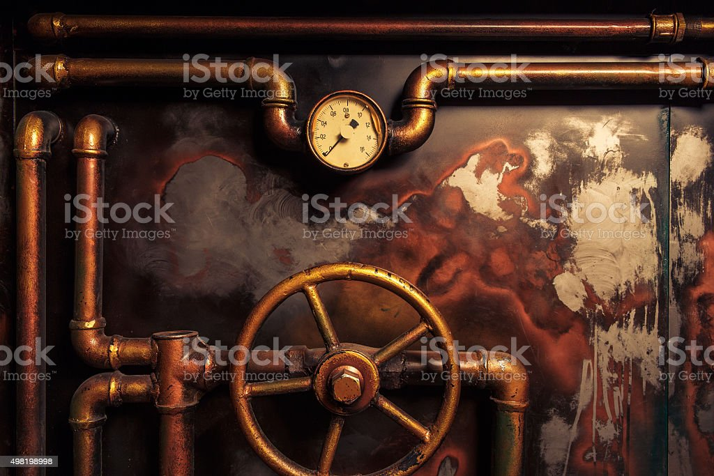 background vintage steampunk stock photo