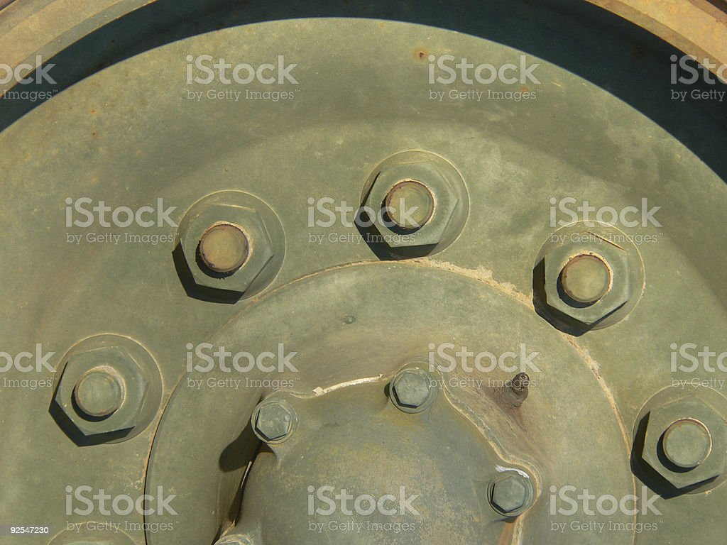 Background - wheel with bolts royalty-free stock photo