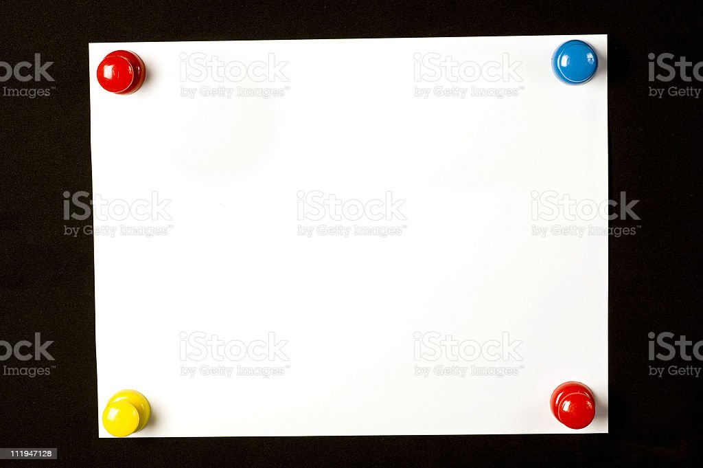 Background With Brightly-Colored Pushpins royalty-free stock photo