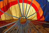 background with colored material of the balloon in Cappadocia