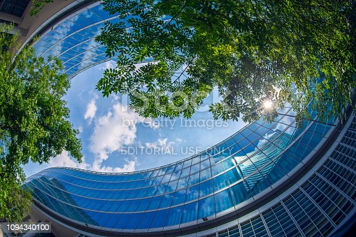 istock Background with detail of new architecture building 1094340100