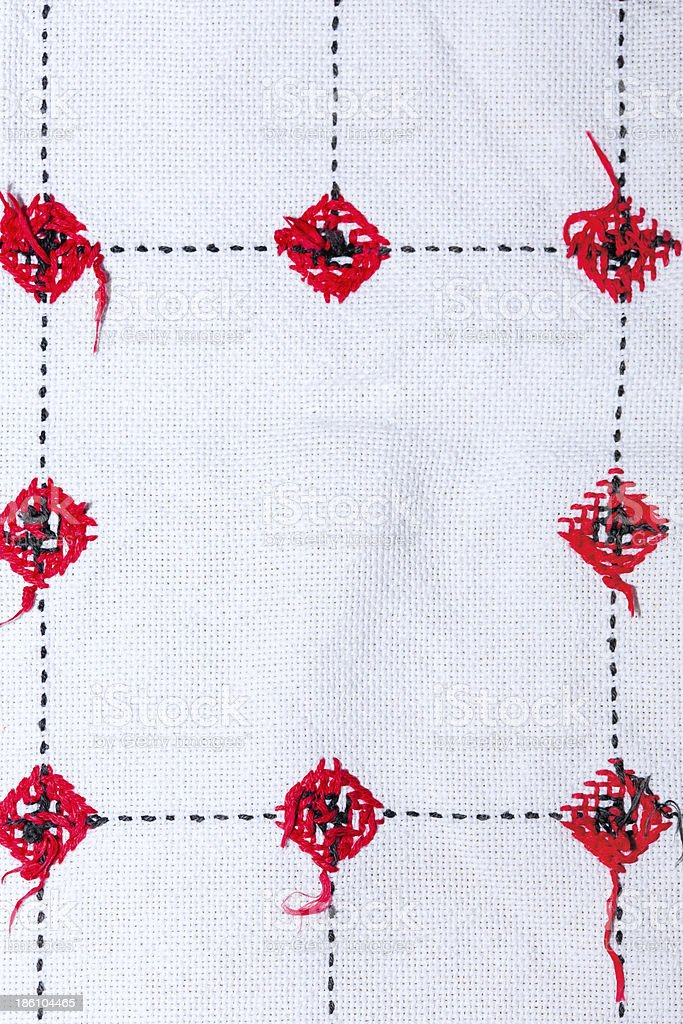 background with embroidery royalty-free stock photo