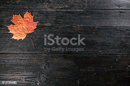 istock Background with fall leaf 612734490