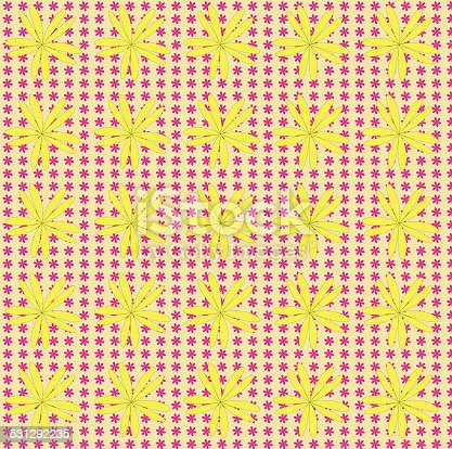 Vintage background with floral and polka dots patterns