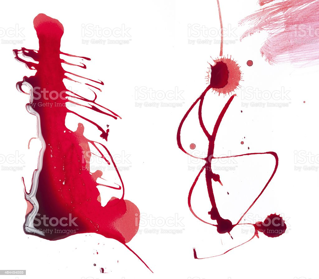 Background with flowing blood royalty-free stock photo