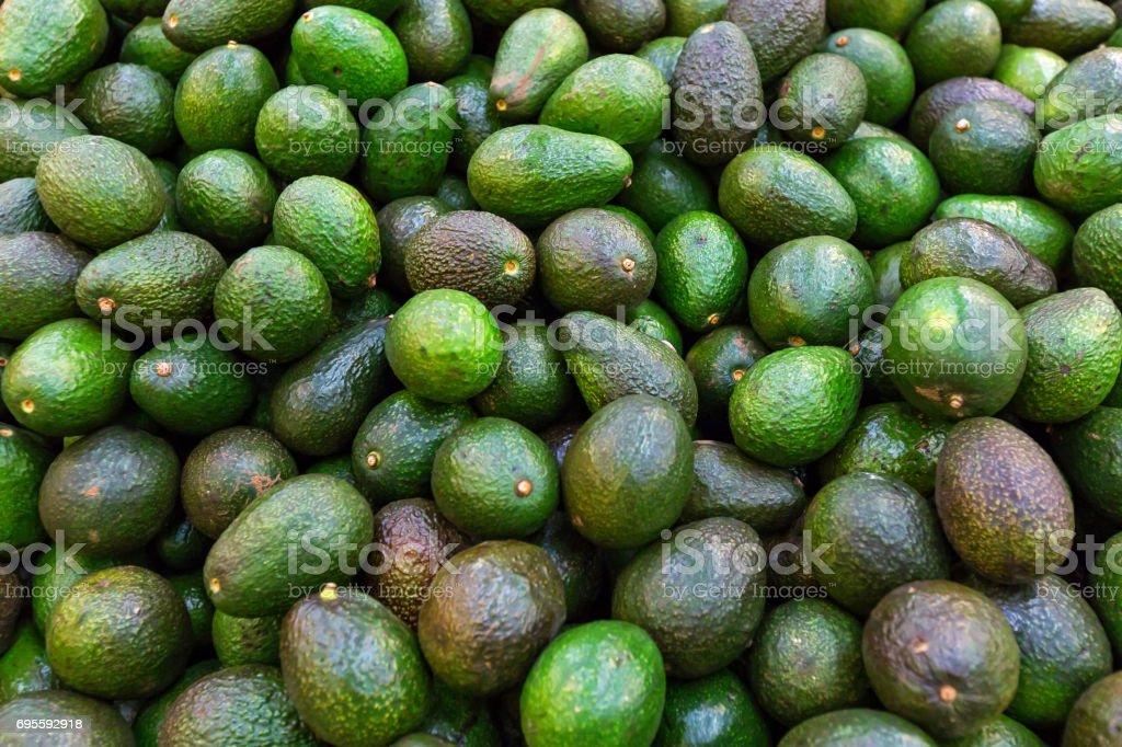Background with fresh avocado stock photo