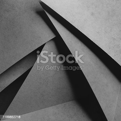 istock Background with geometric shapes of paper, composition abstract 1159852718