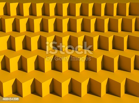 istock 3D background with geometric shapes 468454398