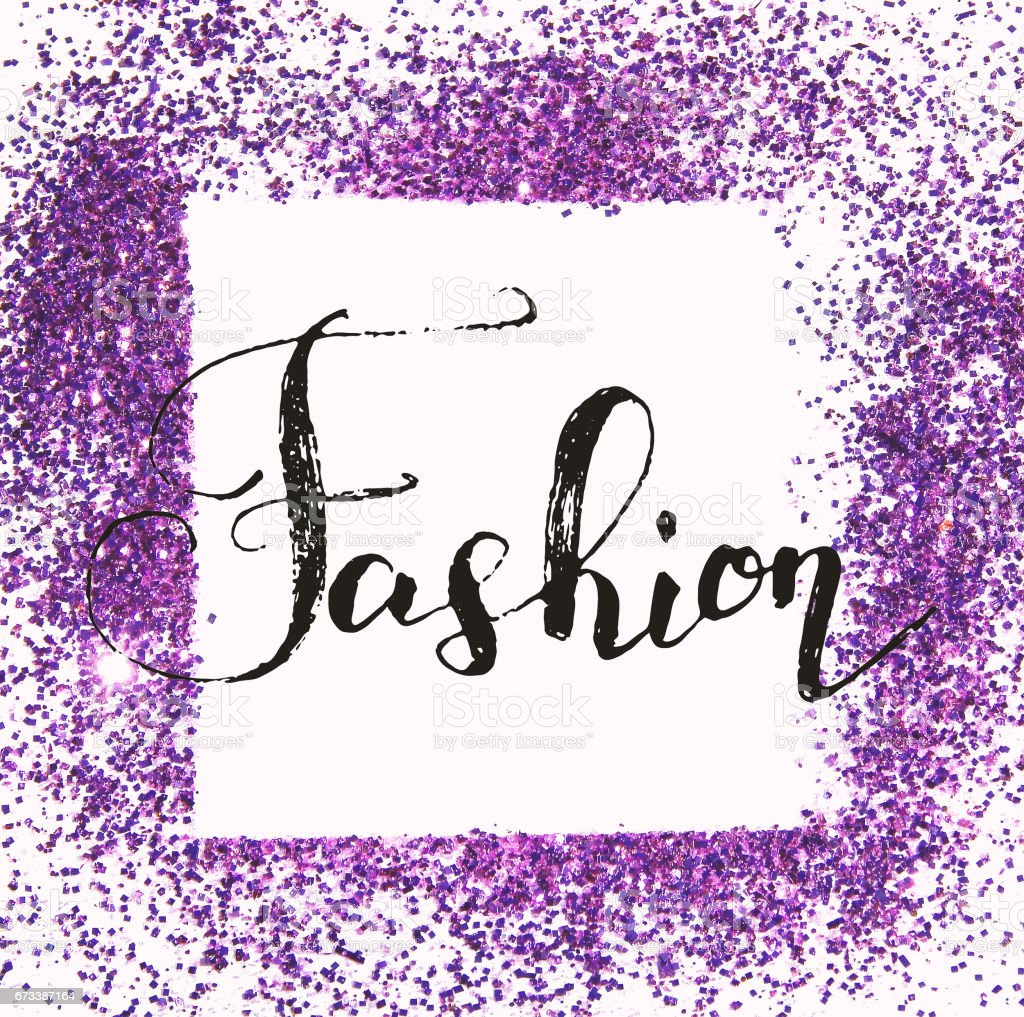 background with hand written scratched word fashion and frame of