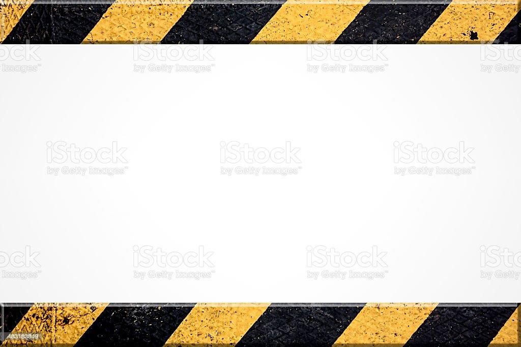 Background With Hazard Stripes stock photo