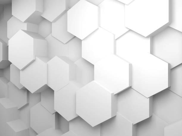 背景與六邊形圖案在牆壁上, 3d - 蜂巢式樣 個照片及圖片檔