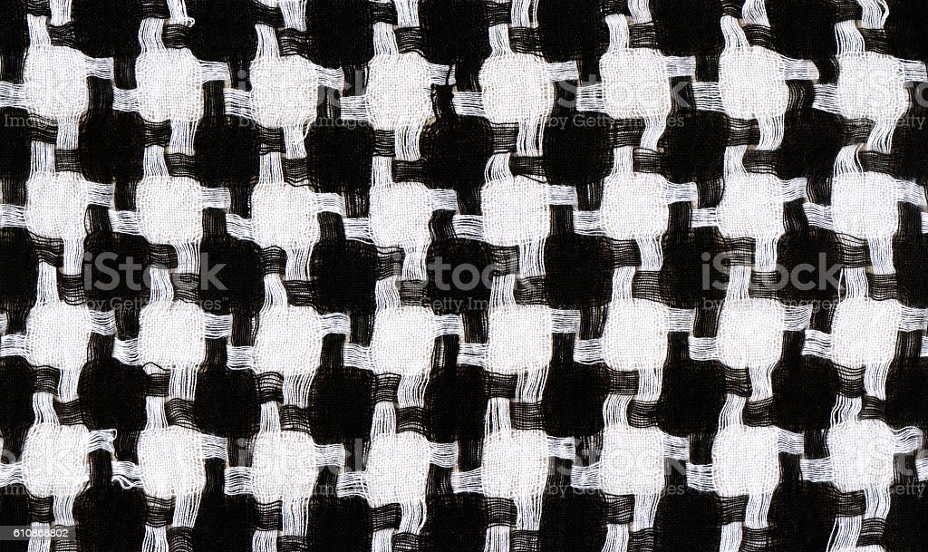 background with houndstooth fabric pattern stock photo