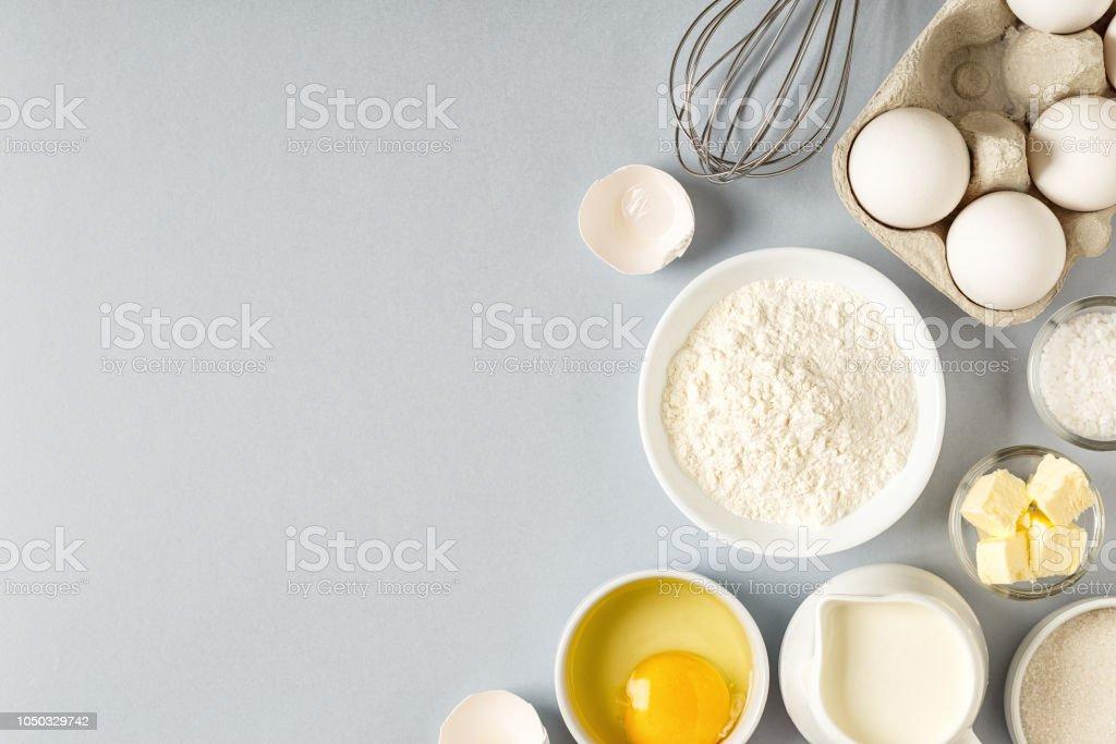 Pişirme malzemelerle yemek için arka plan - Royalty-free Arka planlar Stok görsel