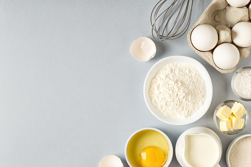 istock Background with ingredients for cooking, baking 1050329742