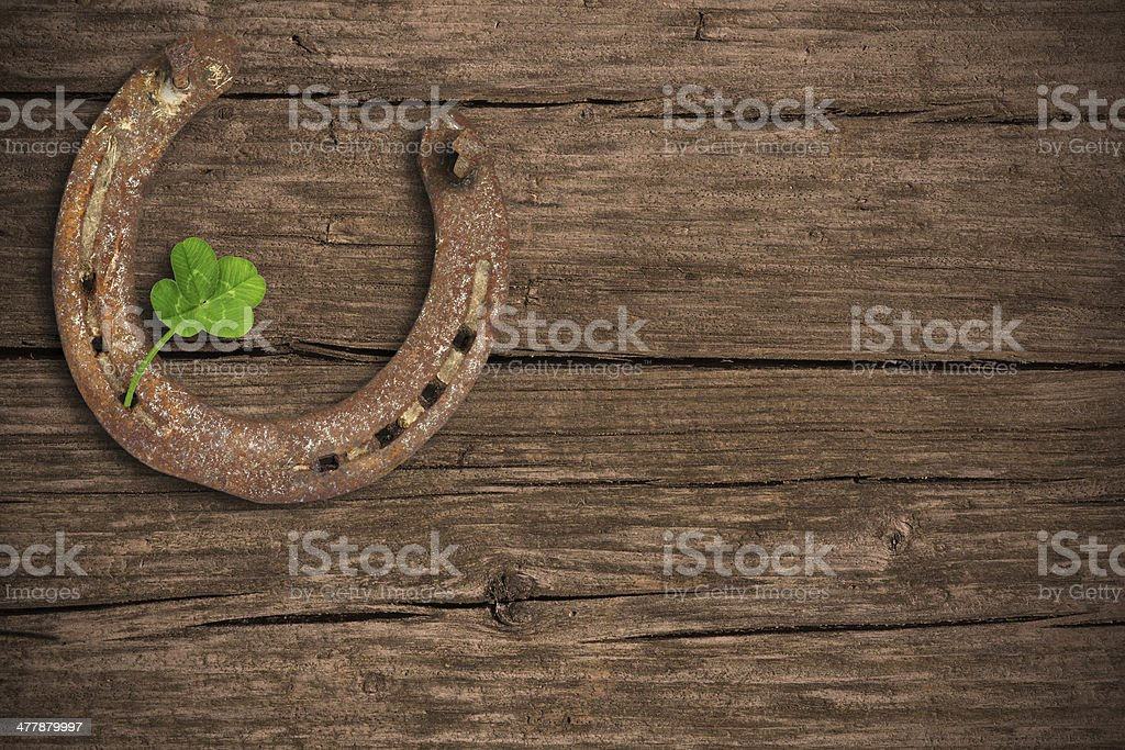 Background with lucky charms stock photo