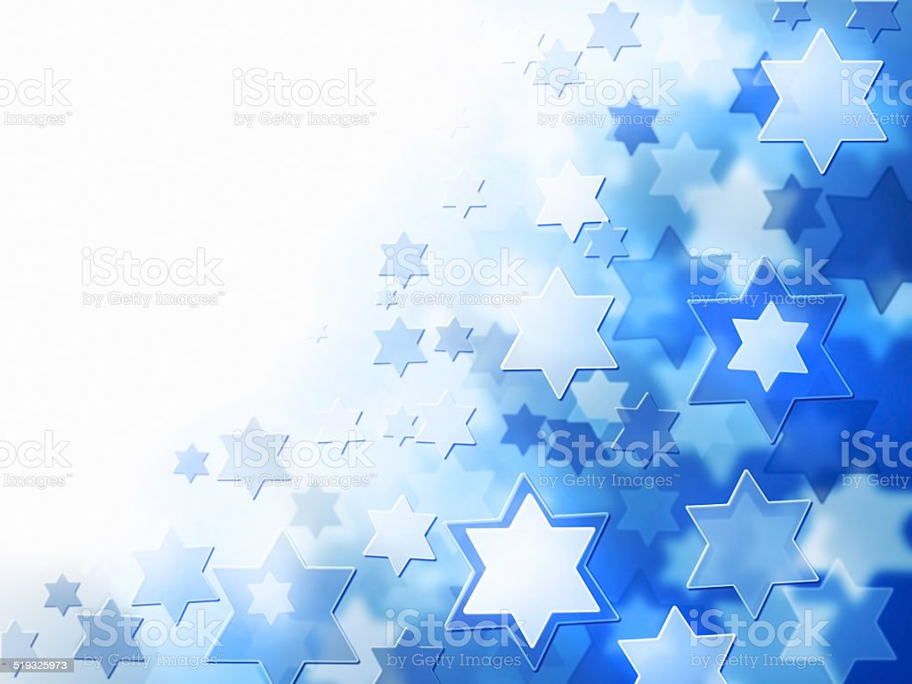 background with Magen David stars stock photo