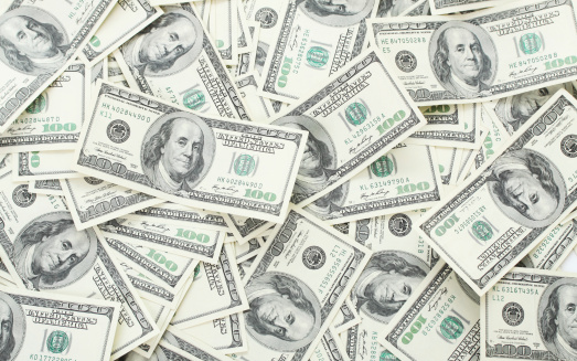 istock Background with money american hundred dollar bills 452970107