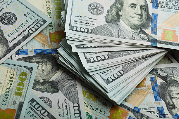 background with money american hundred dollar bills - large group of objects stock photos and pictures