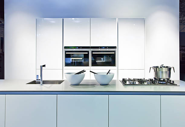 background with new kitchen stock photo