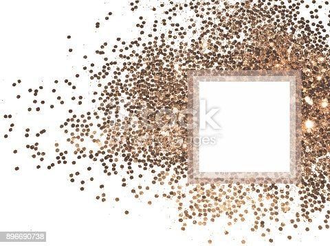 1040055260istockphoto Background with pink gold glitter sparkle on white and place for your text 896690738