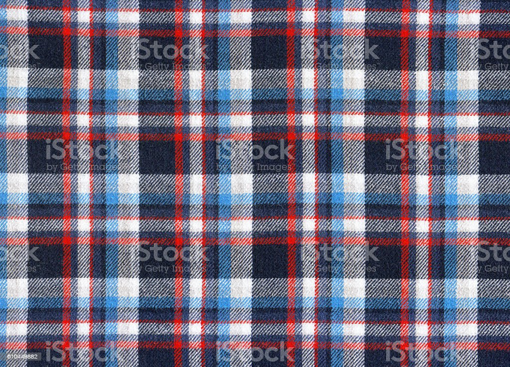 background with plaid fabric stock photo