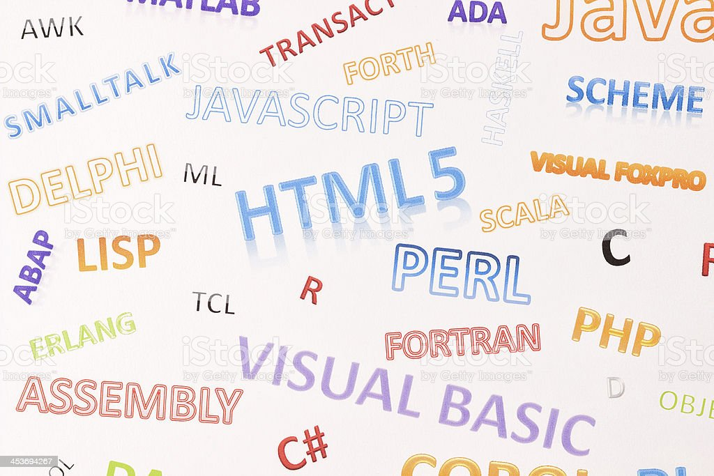 Background With Programming Languages Stock Photo & More Pictures of ...