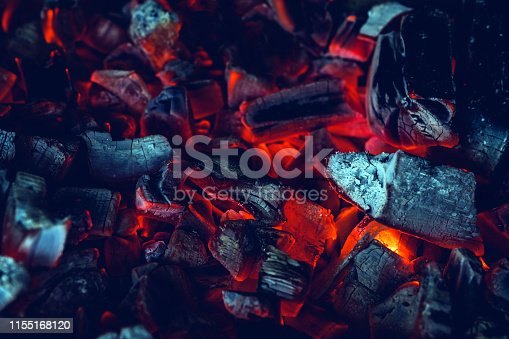 istock background with red hot charcoal close up 1155168120