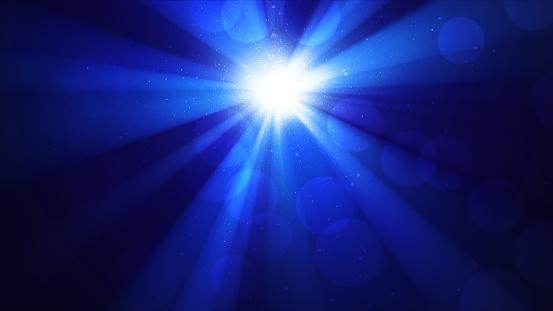 輝く太陽ボケと光神々しい輝きを放ち天輝く濃い青空放射の光と背景 - おとぎ話のストックフォトや画像を多数ご用意 - iStock
