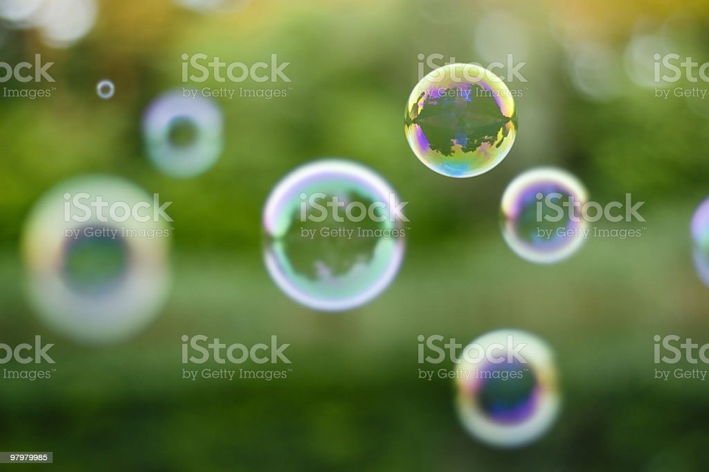 background with soap-bubbles royalty-free stock photo