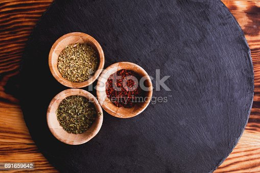 istock Background with spices 691659642