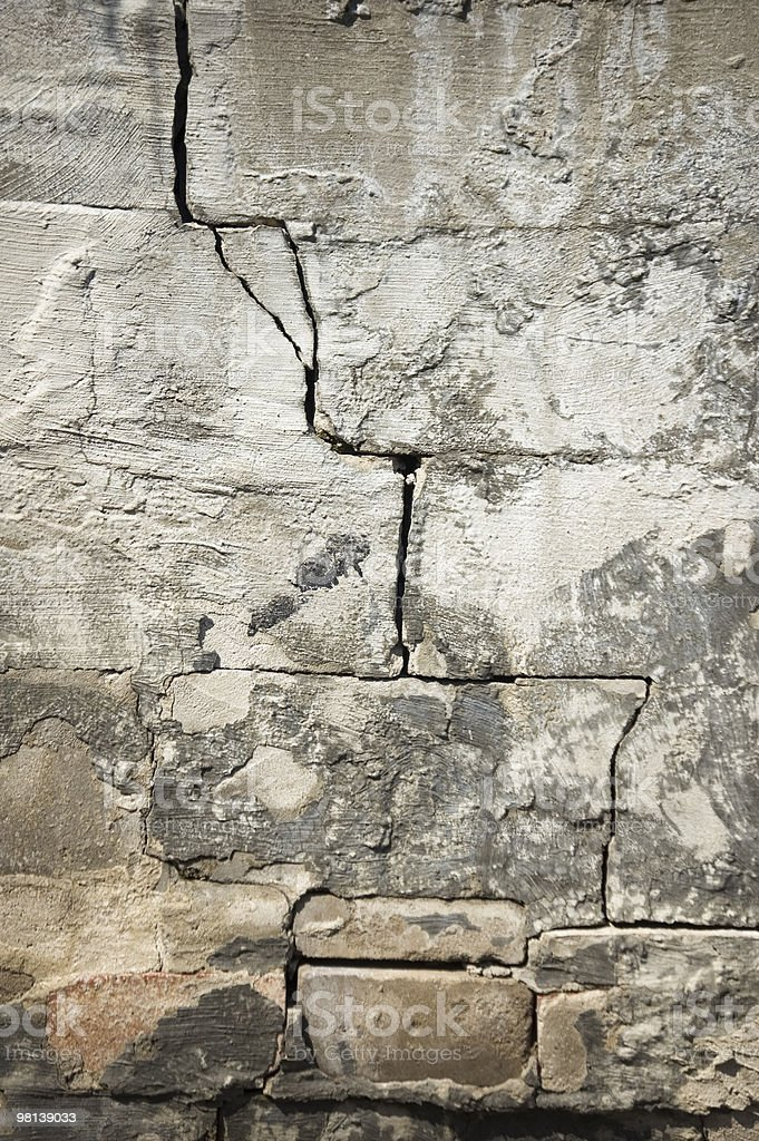 background with split on a rock-wall royalty-free stock photo