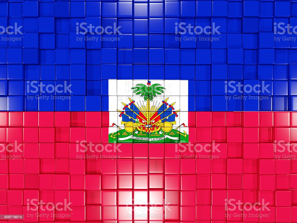 Background with square parts. Flag of haiti stock photo