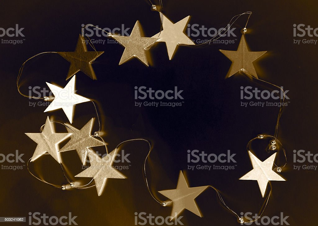 Background with stars stock photo