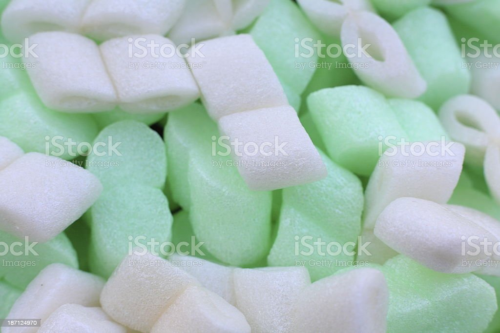 background with Styropor Polystyrene pack material stock photo