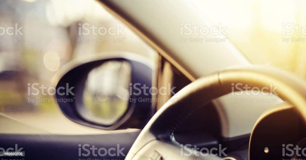 Background with the dashboard of the car stock photo