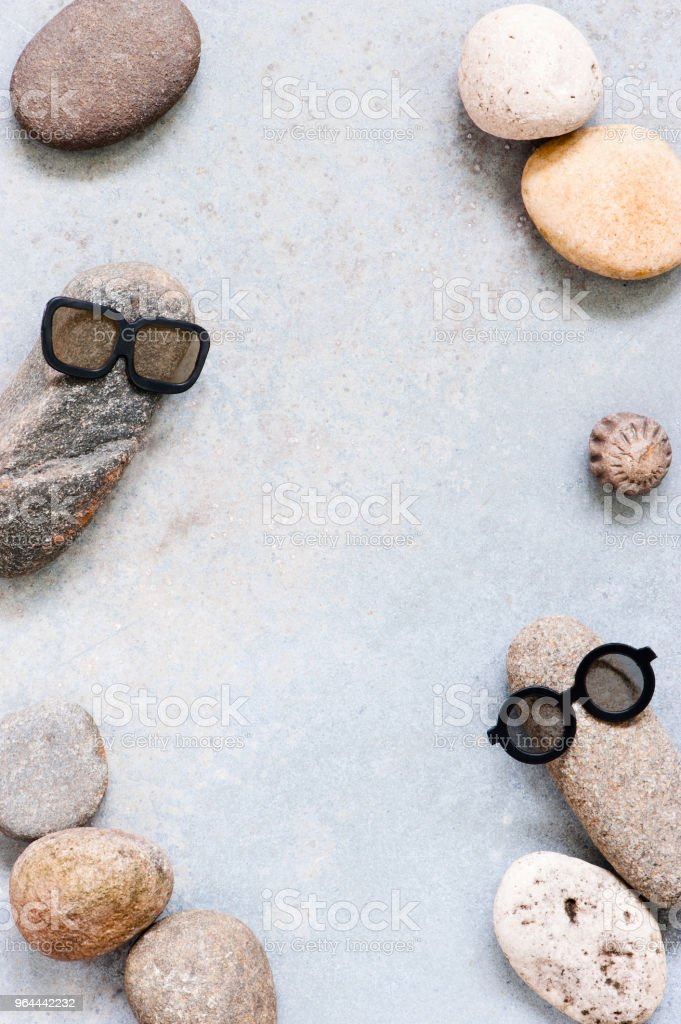 Background with two funny characters of stones - Royalty-free Abstract Stock Photo
