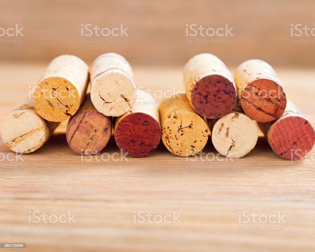 Background with used wine corks. royalty-free stock photo