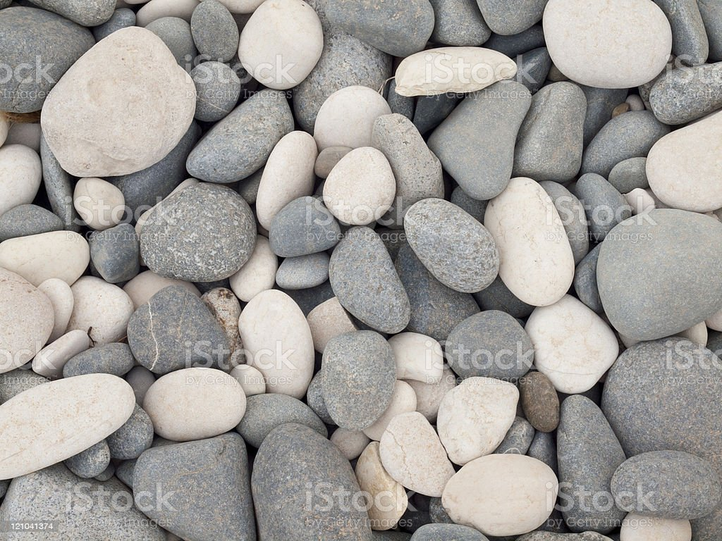 background with white and grey pebbles stock photo