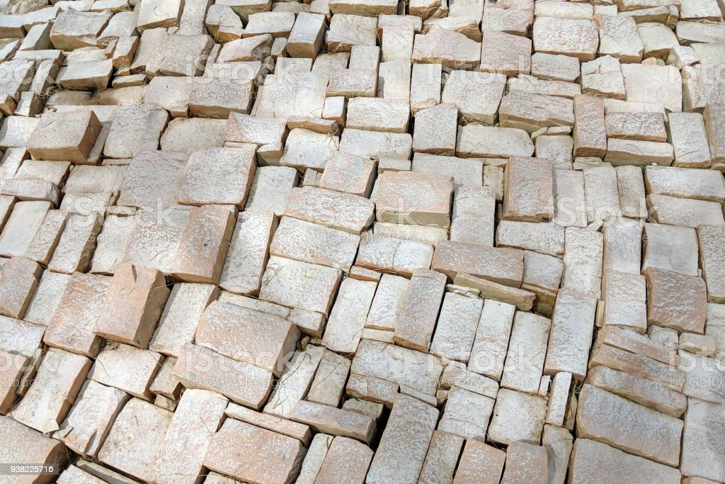 Background with White Cobblestone stock photo