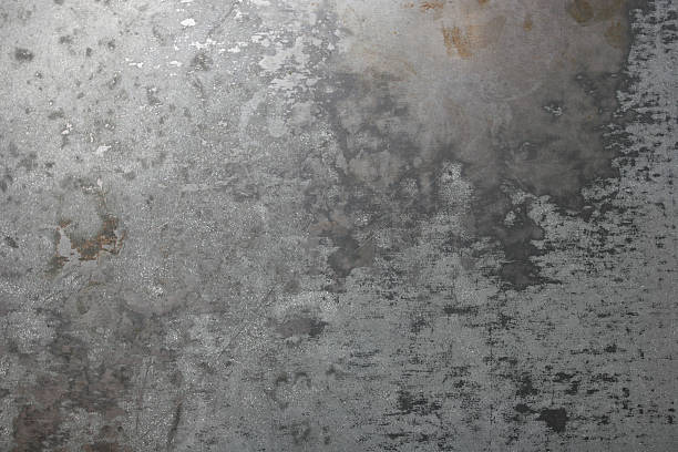Background: Worn Sheet Metal Sheet metal surface worn from wear and tear. rusty stock pictures, royalty-free photos & images