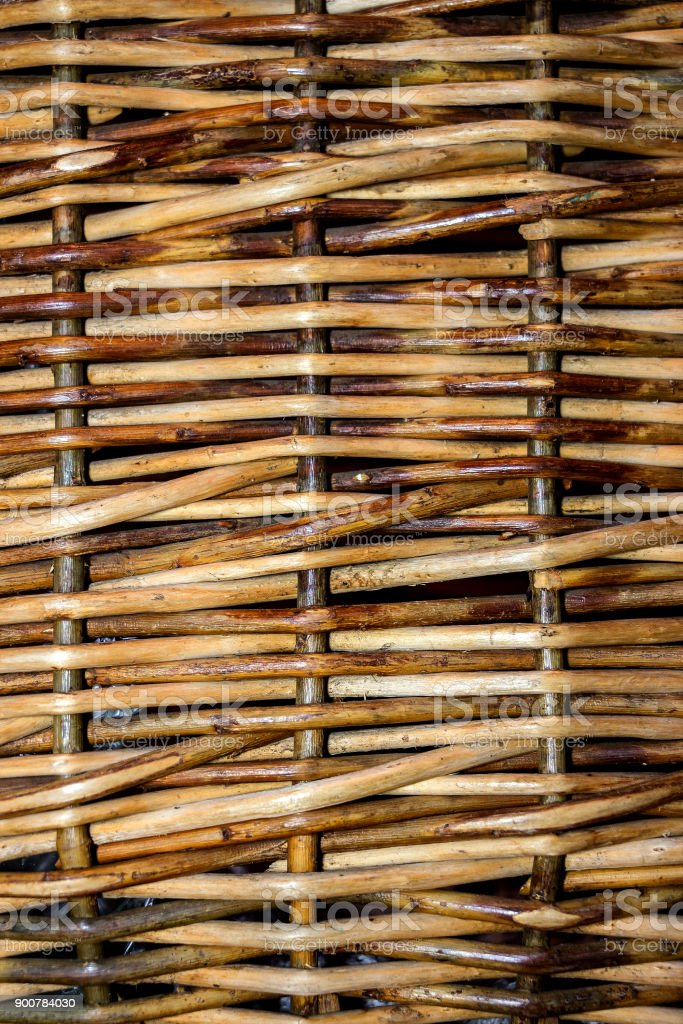 Background woven of willow twigs stock photo
